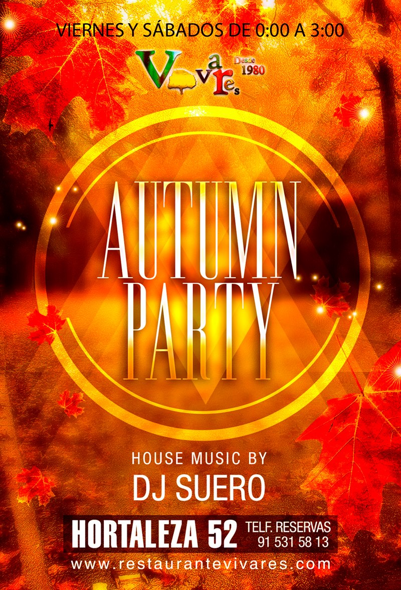 Autumn party con DJ SUERO en Vivares