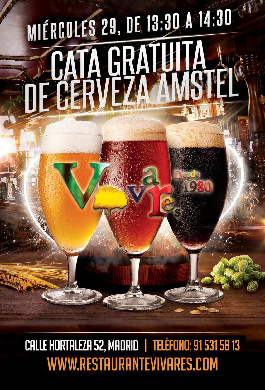 Cata gratuita de cerveza Amstel en Vivares