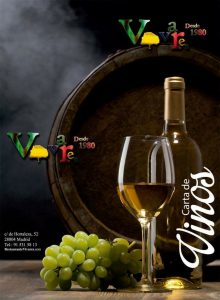 Carta de vinos de Vivares